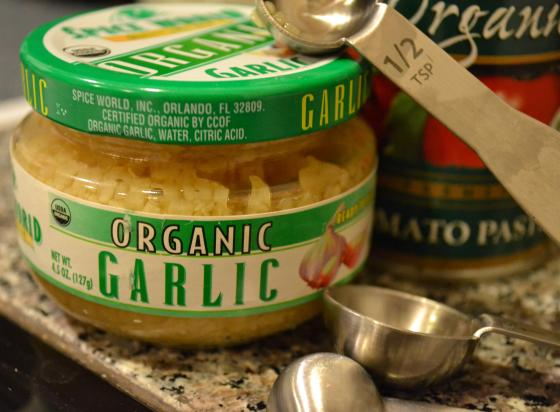 I have to admit I usually cheat and use this garlic already chopped!