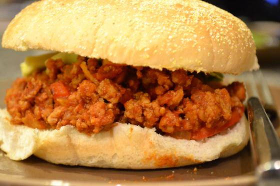 Yes, I topped my sloppy joe with avocado.  Strange combination?  Perhaps.  Delicious?  Definitely.