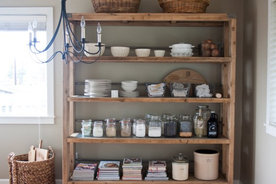 I love using clear containers in the pantry to keep things looking clean... image found here