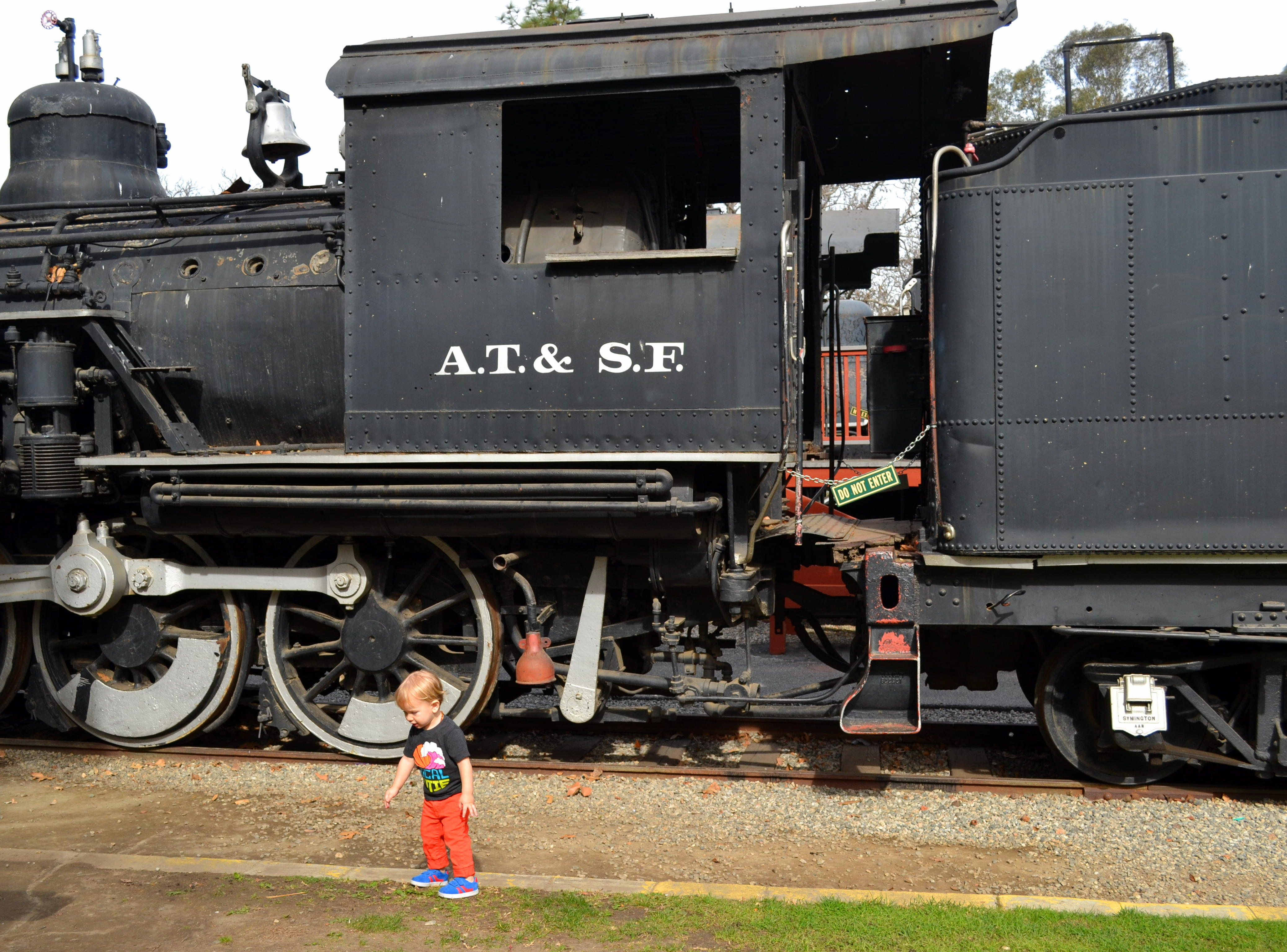 We saw some very old trains at Travel Town in Griffith Park...