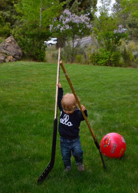 starting his hockey training early