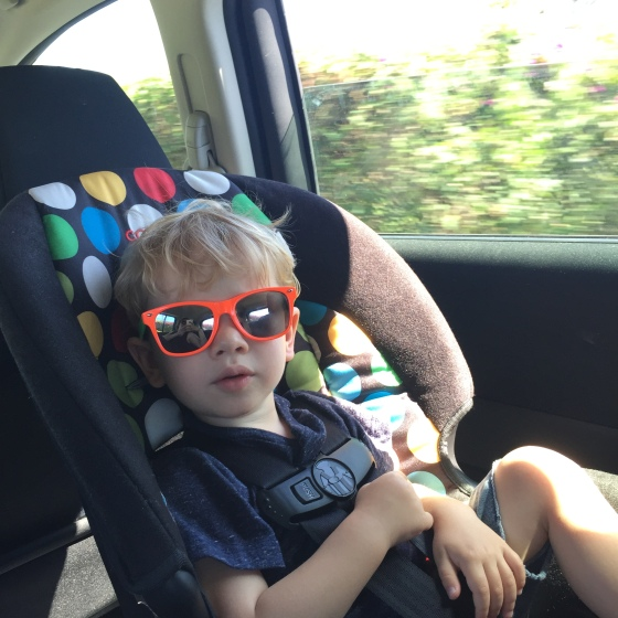 "Lincoln in his ""cool shades"""
